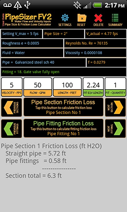 Amazon com: PipeSizer_FV2: Appstore for Android