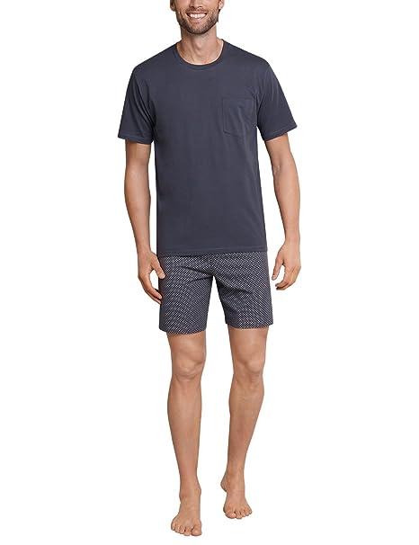 Anzug Kurz, Pantalones de Pijama para Hombre, Gris (Anthrazit 203), Medium Schiesser