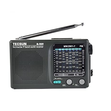 XHD®TECSUN R-909 AM/ FM / SM / MW (9 bands) Multi Bands Radio Receiver  Broadcast With Built-In Speaker