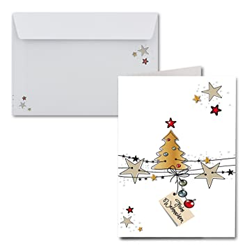 15x Weihnachtskarten Din A6 Weiße Weihnachtenmit Brief Umschlägen