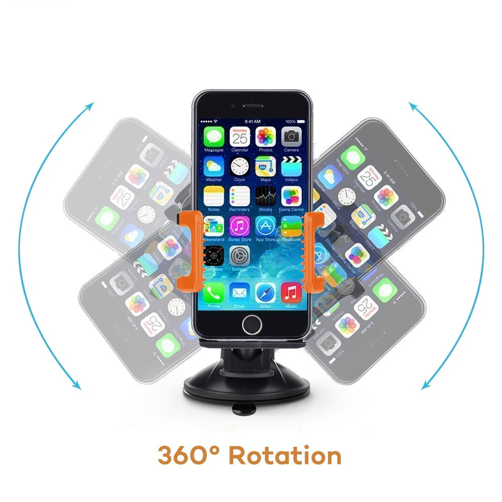 Windshield Android Smartphone and More Dashboard Universal Car Mobile Phone cradle for iOS TaoTronics Car Phone Mount Holder