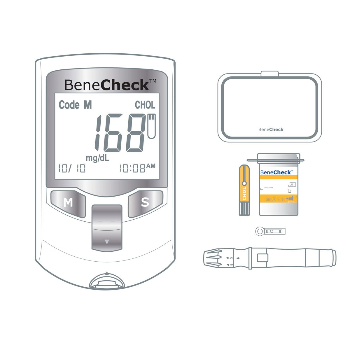 Benecheck Total Cholesterol Strips by Glbiotech