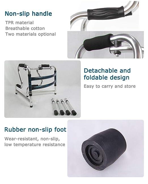 XKRSBS Caminante Ligero Andador de Aluminio Plegable con ...