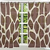 ALAZA 2 PCS Window Decoration Sheer Curtain Panels,Cute Giraffe Print,Polyester Window Gauze Curtains Living Room Bedroom Kid's Office Window Tie Top Curtain 55×78 inch Two Panels Set Review