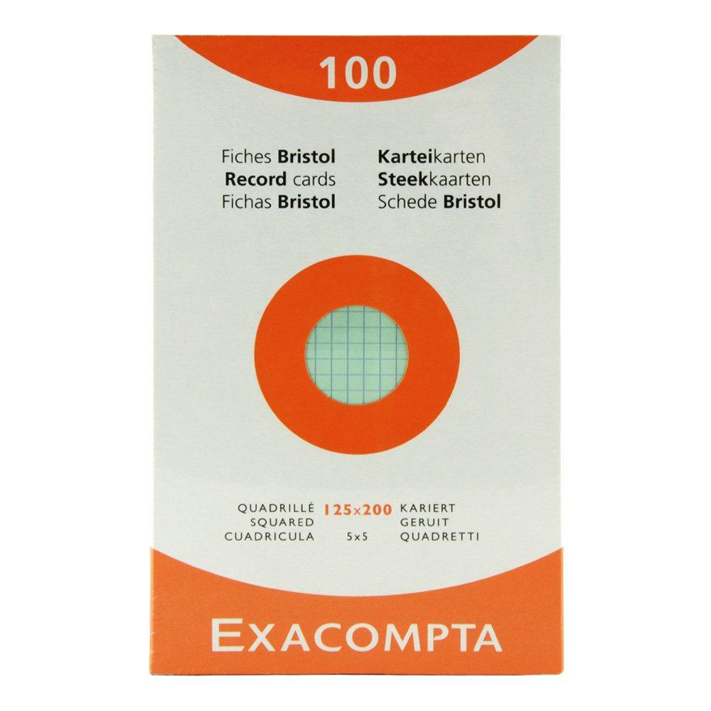 Exacompta Index Cards 5X8 Inch, 100 Pack, White,  by Exacompta
