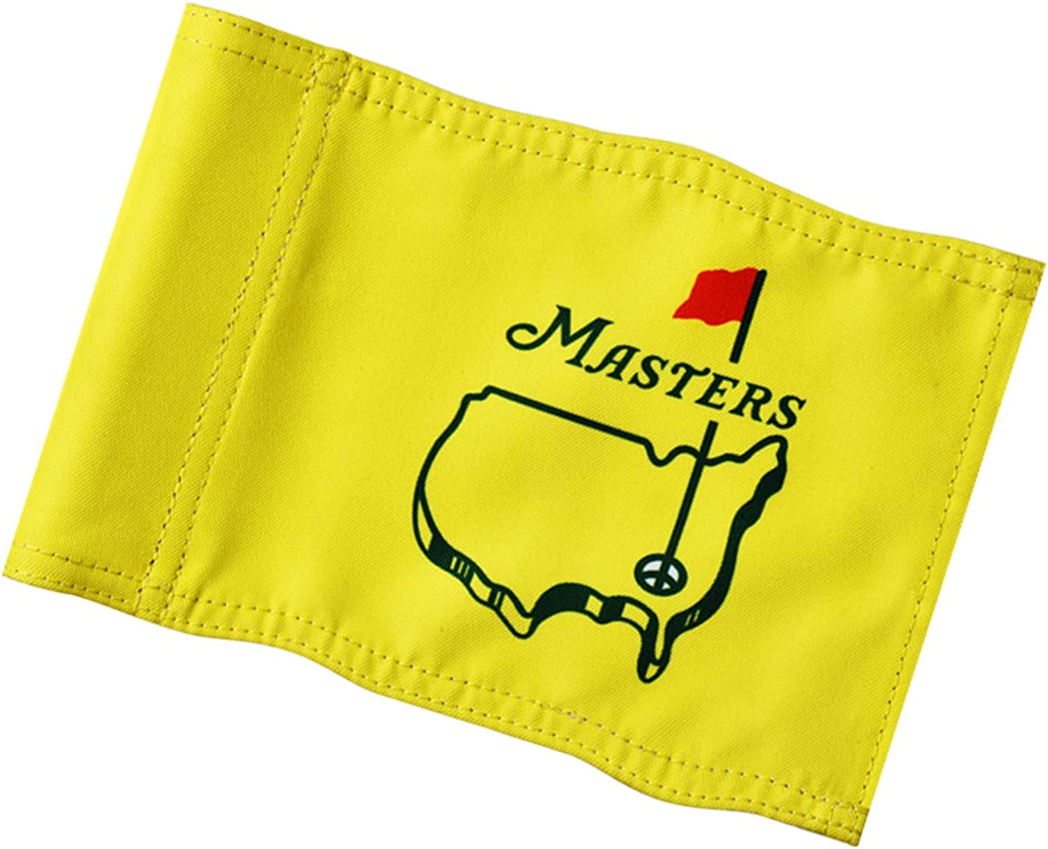 """KINGTOP Masters Golf Flag, Double-Sewn PGA Flags, Regulation Tube Flag, Practice Putting Green Flag for Yard, 600D Polyester Mini Pin Flags, 8"""" L x 6"""" H, Augusta National Putting Green Flags, 1-Pack"""