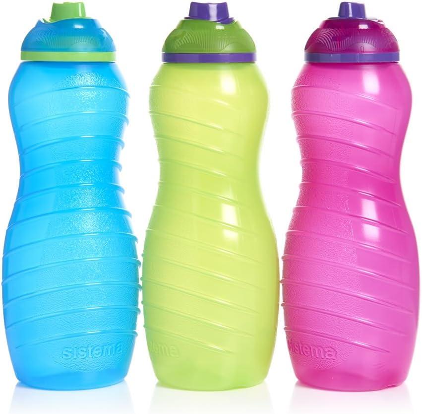 3 Sistema 700 ml Twist n Sip vasoss, azul, rosa, verde