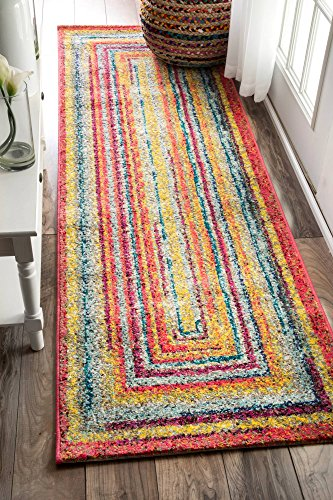 "nuLOOM Hargis Labyrinth Runner Rug, 2' 5"" x 8', Multi - Origin: Turkey Weave: machine made Material: 100% polypropylene - runner-rugs, entryway-furniture-decor, entryway-laundry-room - 61E7 %2BkjG7L -"