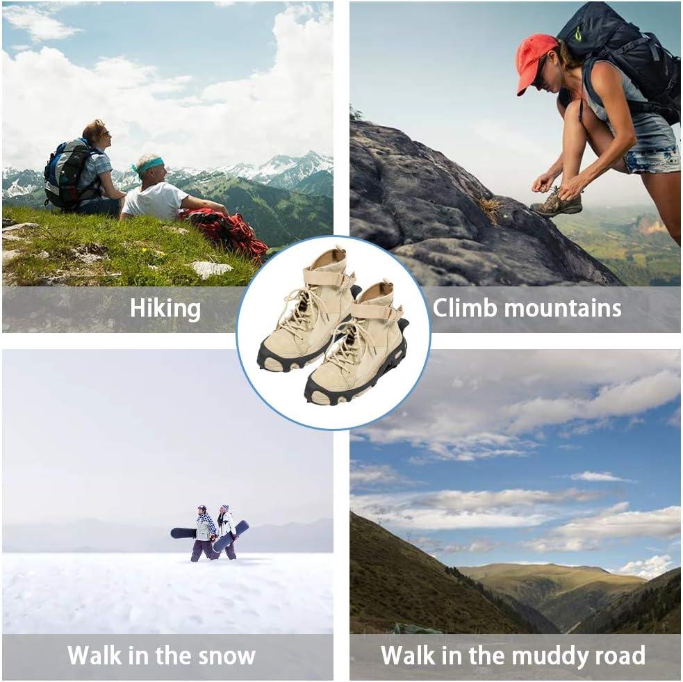 Jogging Alpinisme V244A ValueHall Crampons Glace Traction 24 Dents en Acier Inoxydable Antid/érapants Grips Crampons pour Marche