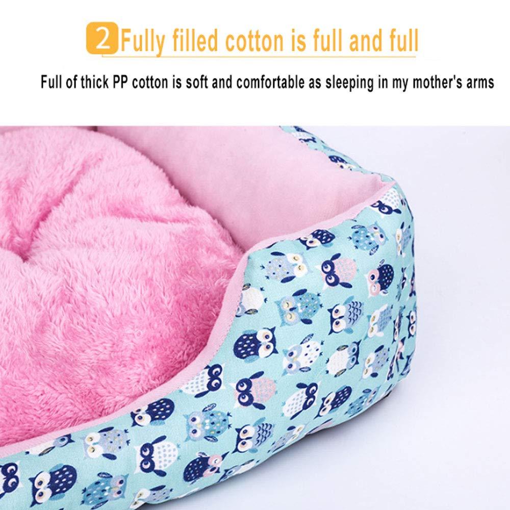 Lyuyu The DogŽs Bed, Premium Plus Velvet Thicken Camas ortopédicas de Espuma para Memoria para Perros Cama para Perros Lavable Perro pequeño y Mediano Cat ...