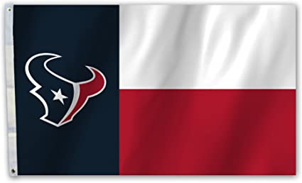 XIFAN Polyester Flag for Houston Texans Team Brass Grommets Football Sports Banner 3 X 5 FT