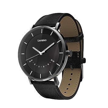 Lenovo Watch S 5ATM Reloj de cuarzo con podómetro y Bluetooth multimodo, negro
