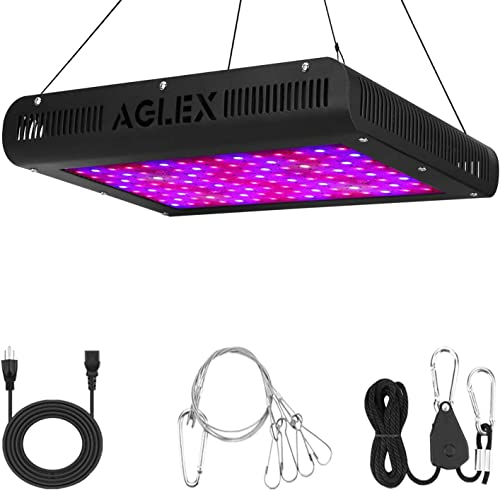 AGLEX 1200W LED Grow Light – B Plus Full Spectrum LED Plant Grow Lamp with Daisy Chain UV IR for Greenhouse Indoor Plants Veg and Flower 2020 Upgraded