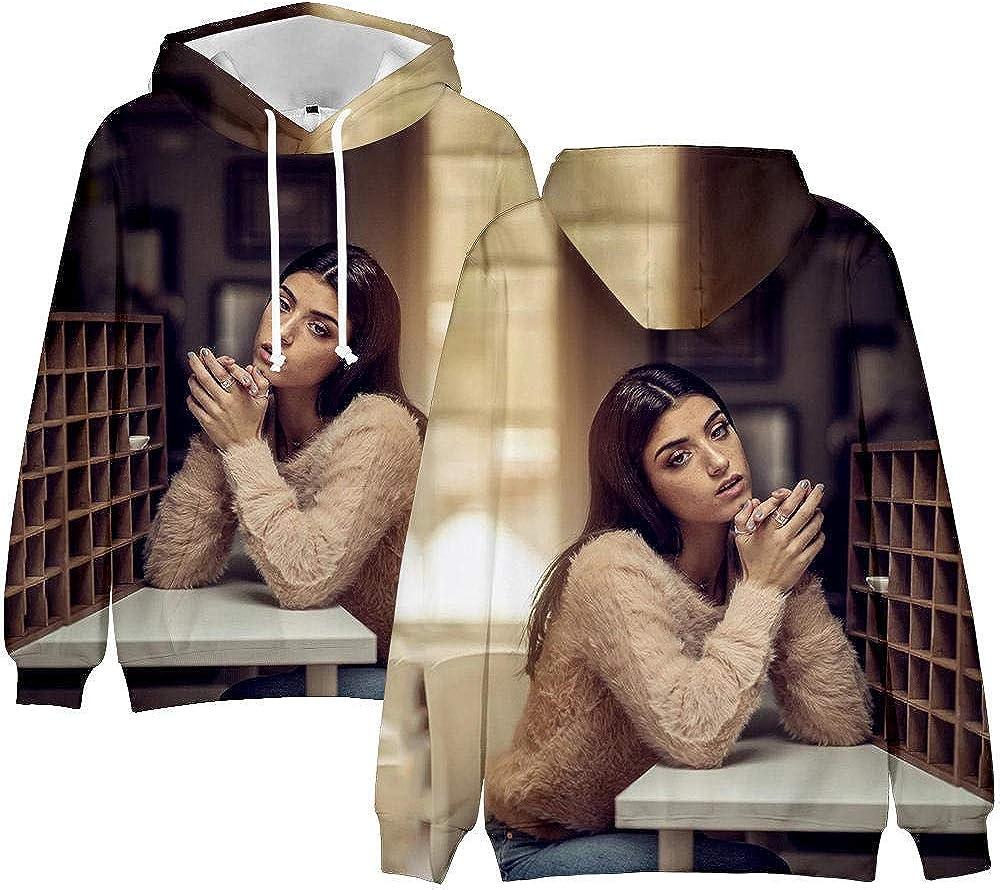 Felpa Casual da Uomo Divertente Stampata Ispirata a The Hype House Charli DAmelio Maglione per Bambini Felpa con Cappuccio da Donna Maniche Lunghe Fashion Girls Pullover