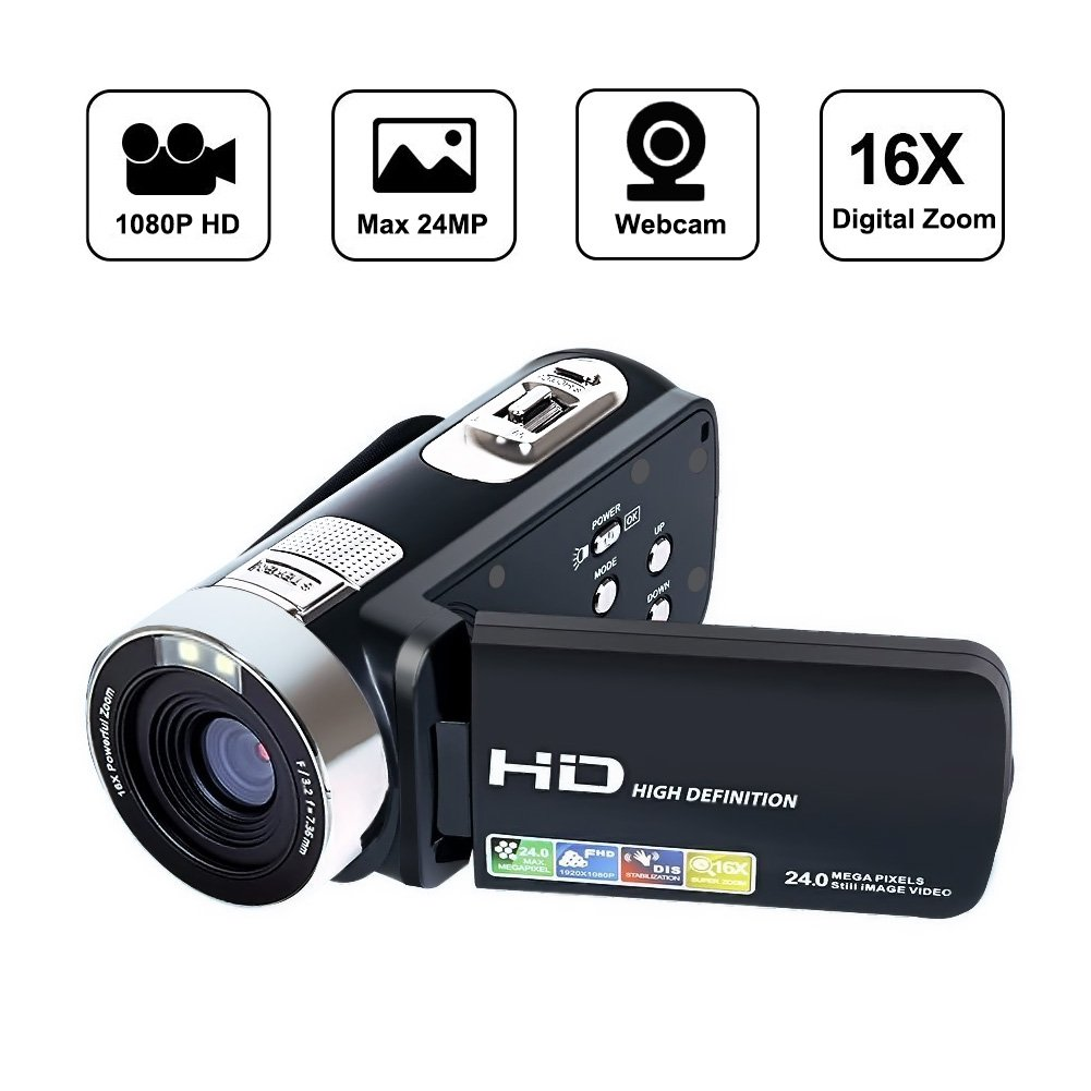 Videocámaras Grabadora de vídeo digital HD P MP X Videocámara de zoom