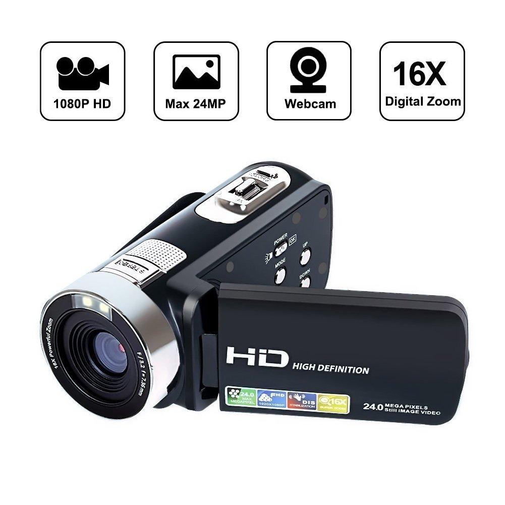 SEREE Comcorder Full HD 1080P Video Camera 16X Digital Zoom 2.7