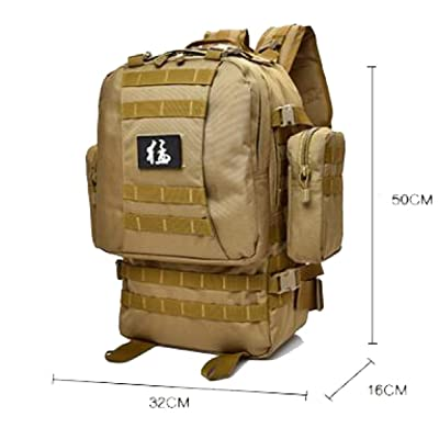 Sac à Dos Tactique Militaire Sac à Dos En Trekking Extérieur Pack De Combat à Sac étanche 30L,Khaki
