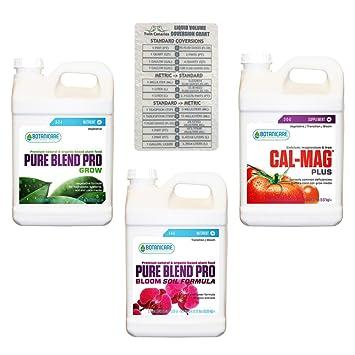 Botanicare - Pack de 3 piezas: Pure Blend Pro Grow, Pro Bloom Soil Formula