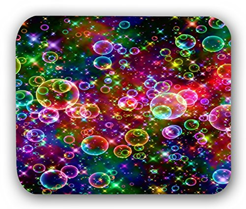 Colorful Flower Design Bumstore Non-Skid Rubber Pad Personalized Round Desktop Mousepad