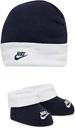 Nike Babies Hat \u0026 Booties Set Navy