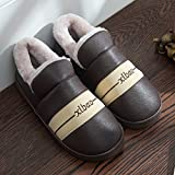 Aemember Couples' Cotton Slippers, Men And Women'S Bags, Indoor Waterproof And Waterproof,36/37 (Suitable For 35/36 Feet At Ordinary Times),Claret