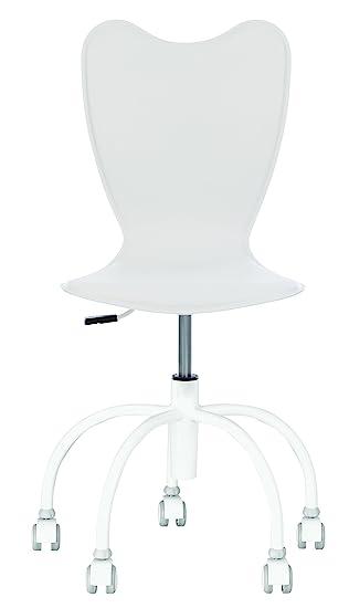 Princesa GTS – Silla de escritorio diseño rosa – Silla de oficina (cuero regenerado Piétement