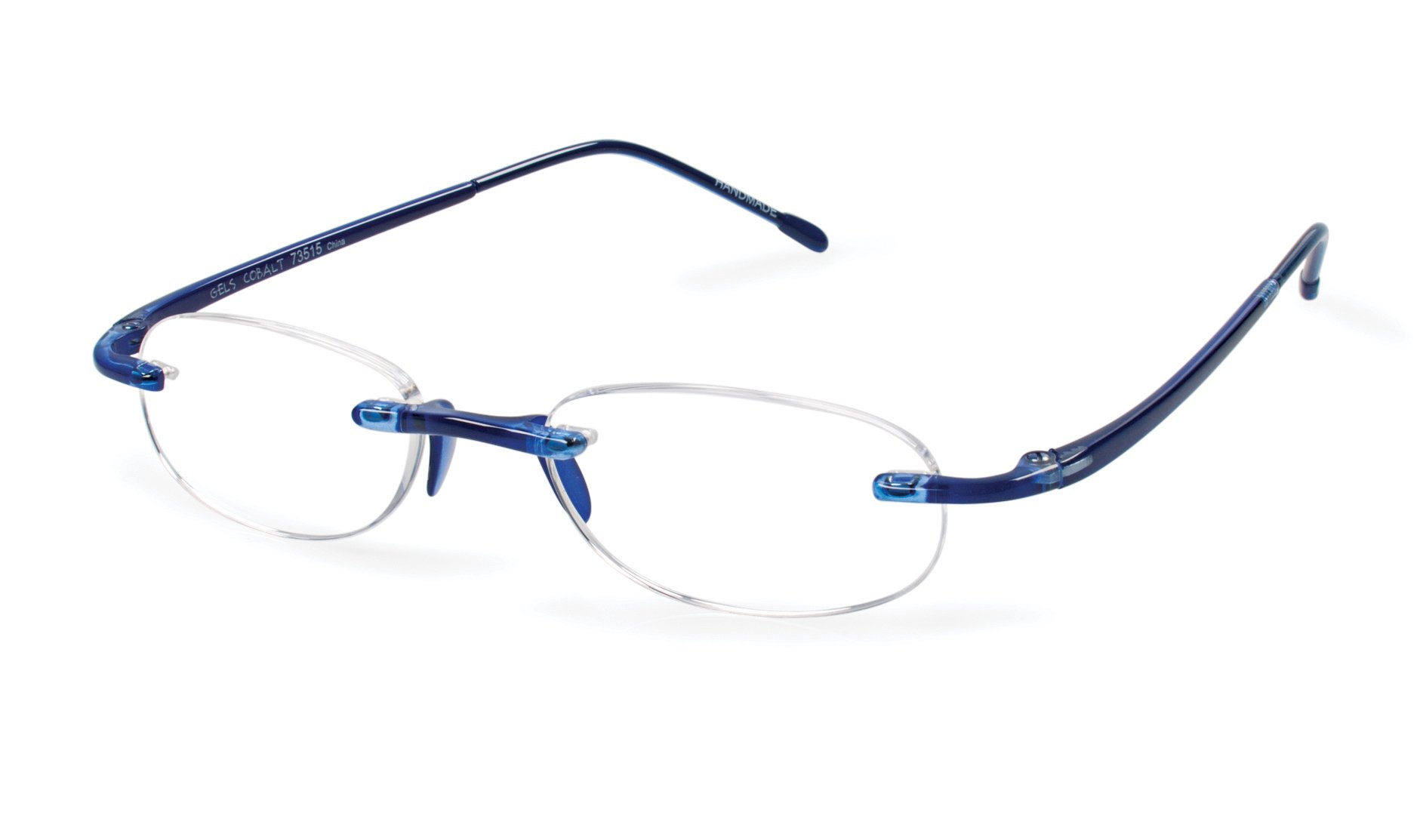 Gels - Lightweight Rimless Fashion Readers - The Original Reading Glasses for Men and Women - Cobalt Blue (+2.50 Magnification Power) by Scojo New York (Image #1)