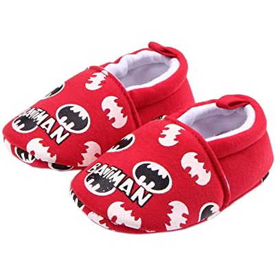 Bettyhome Cotton Unisex Baby Newborn Bat Pattern Soft Sole Infant Toddler Prewalker Sneakers (0-1 Year)