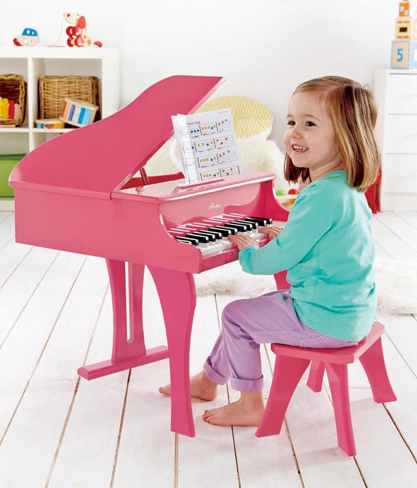 Hape Happy Grand Piano in Pink Toddler Wooden Musical Instrument by Hape (Image #5)