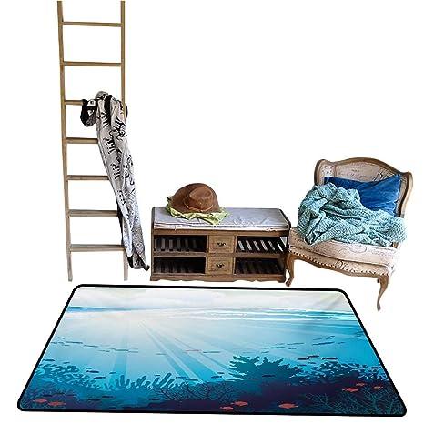 Amazoncom Home Custom Floor Mat Ocean Design With Fish