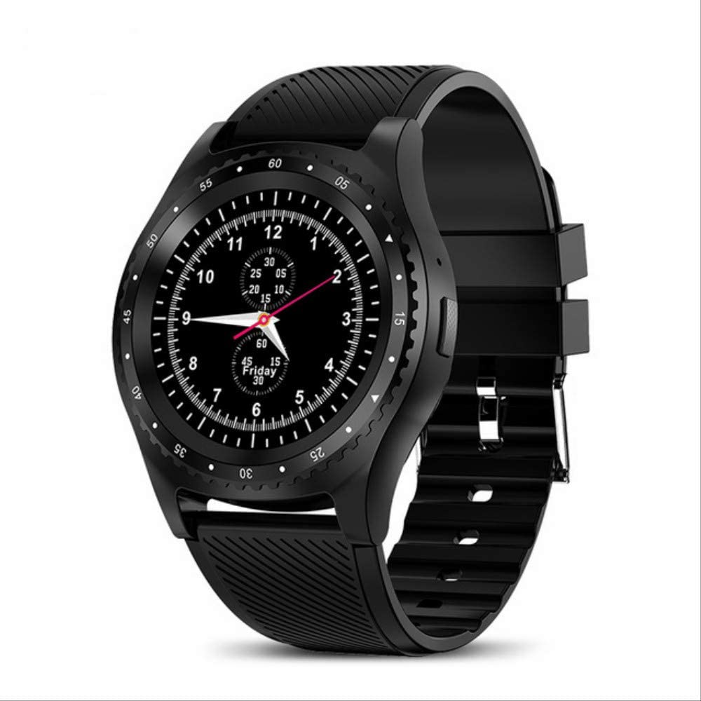 ZIHUINI Smart Watch New Smart Watch Men Women Sport Watch Color Led Touch Screen Reminder Watch Support Sim TF Card For Android iOS RelojBlack