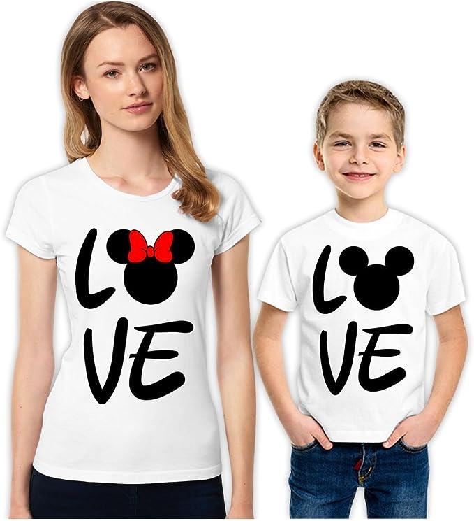 Love Minnie and Micky - Juego de Camisetas Familiares a Juego para ...