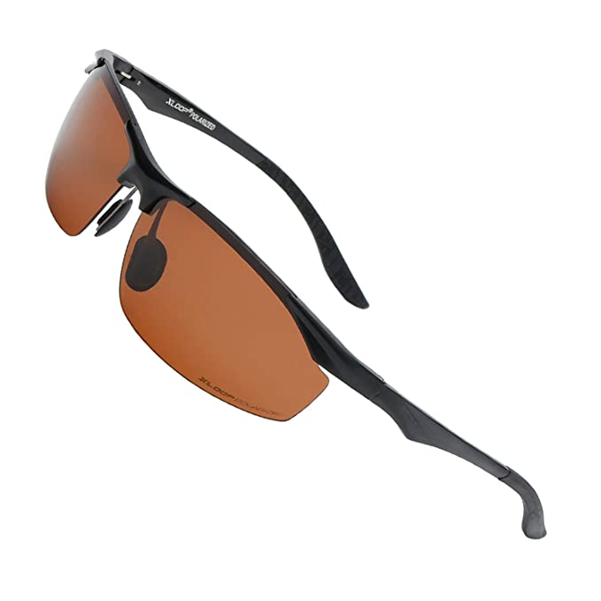 Amazon.com: Xloop - Gafas de sol polarizadas rectangulares ...