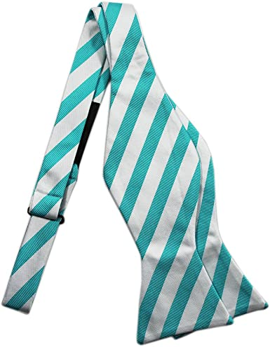 Bestow Electric Maya//columbia Blue White Bow Tie Set