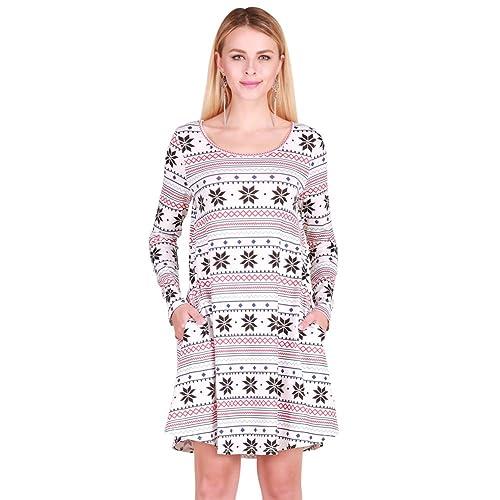 Romacci Vestido de Navidad Vestido Mujer