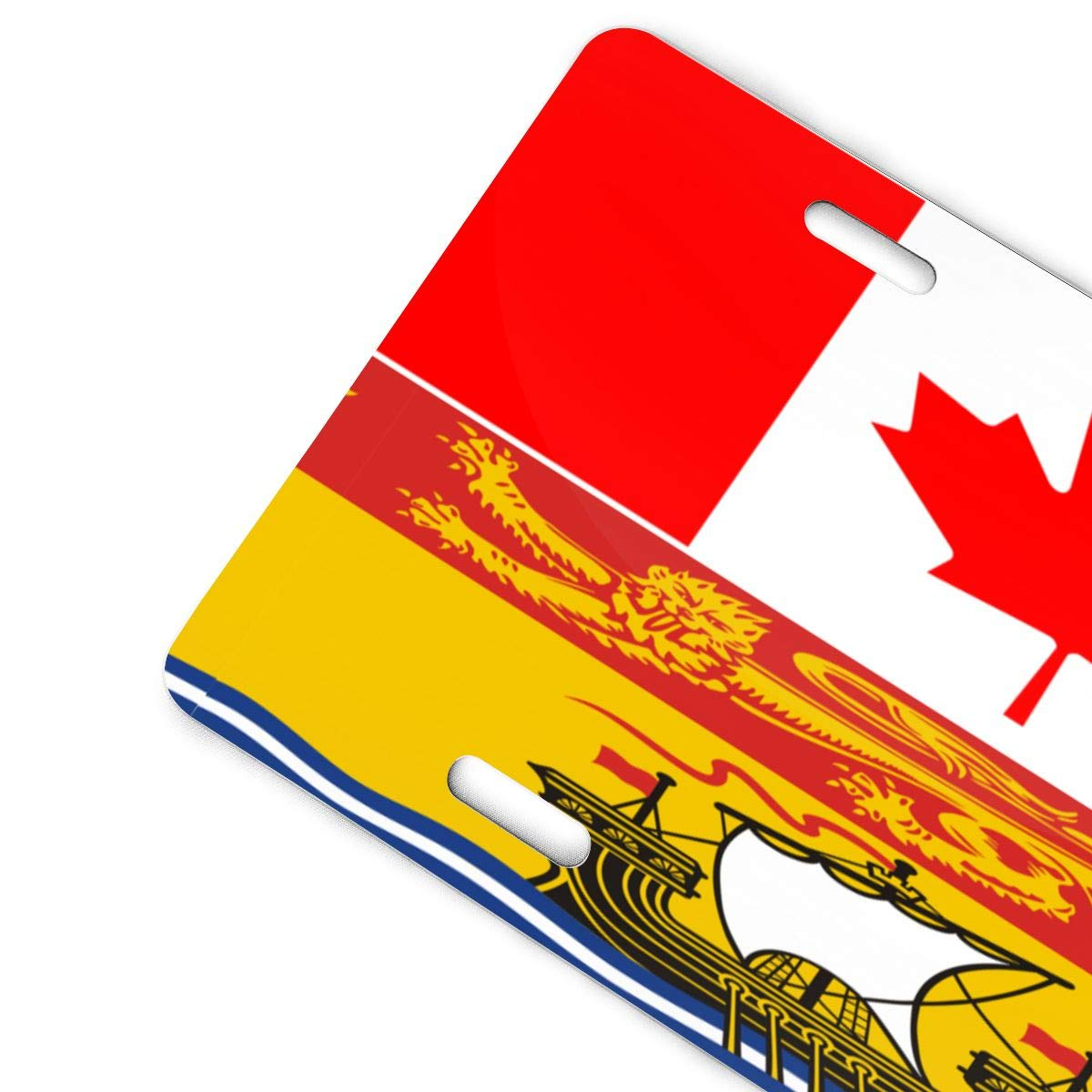 Canada and New Brunswick Flag Metal License Plate Vanity Car Plate Car Tags 6 X 12