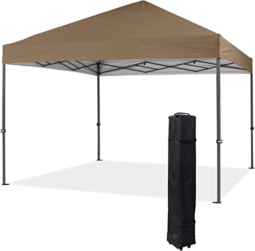COOSHADE Heavy Duty Pop Up Canopy Tent 12x12Ft Khaki