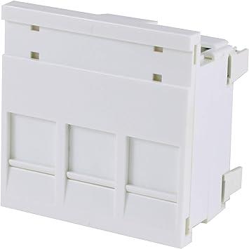 Triple Cat6 RJ45 Color blanco Ethernet toma de corriente: Amazon.es: Bricolaje y herramientas