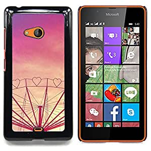 Jordan Colourful Shop - Heart Love Purple Sunset Fair Amusement For Microsoft Nokia Lumia 540 N540 - < Personalizado negro cubierta de la caja de pl??stico > -