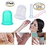 CuOmix 2PCS Silicone Cupping Cups Beauty Care Relieve Pain Therapy Massage Anti-cellulite Cupping