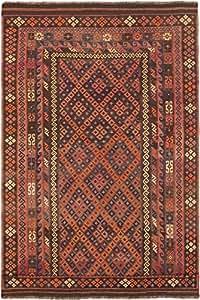 "Ecarpetgallery Hand-woven Sivas Geometric 8'0"" x 13'7"" Brown 100% Wool area rug"