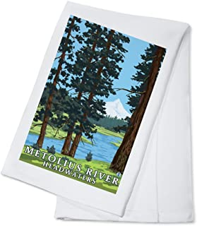 product image for Metolius River Headwaters, Oregon (100% Cotton Kitchen Towel)