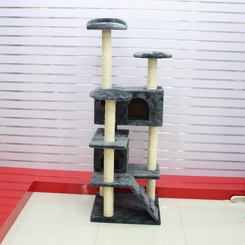 Grey Weiwei Cat Climbing Frame cat Tree cat nest Activity Tree for Sleeping Games 50cm 50cm  130cm