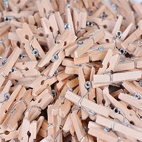 0.4 cm Drawihi 100 St/ück Mini Holz W/äscheklammern DIY Craft Memo Papier Foto Clips 2.5