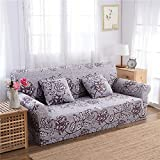 RUGAI-UE Sofa Slipcover sofa cover tight fitted elastic gasket cover three upholstered sofa full four living room,Two seater sofa long 145-185cm,Fragrant flowers