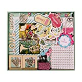 "FaCraft Scrapbook Kits,Scrapbooking Kit with Pages Protecters Pockets (10.5""x9"",Green)"