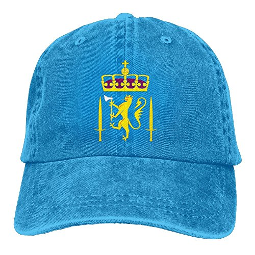WKP0XKA Men and Women Cap Coat Of Arms Of Norway Unisex Flat Bill Hip Hop Cap Baseball Hat Head-Wear Cotton Trucker Hats Royalblue (Dodge Beanie Camo Ram)