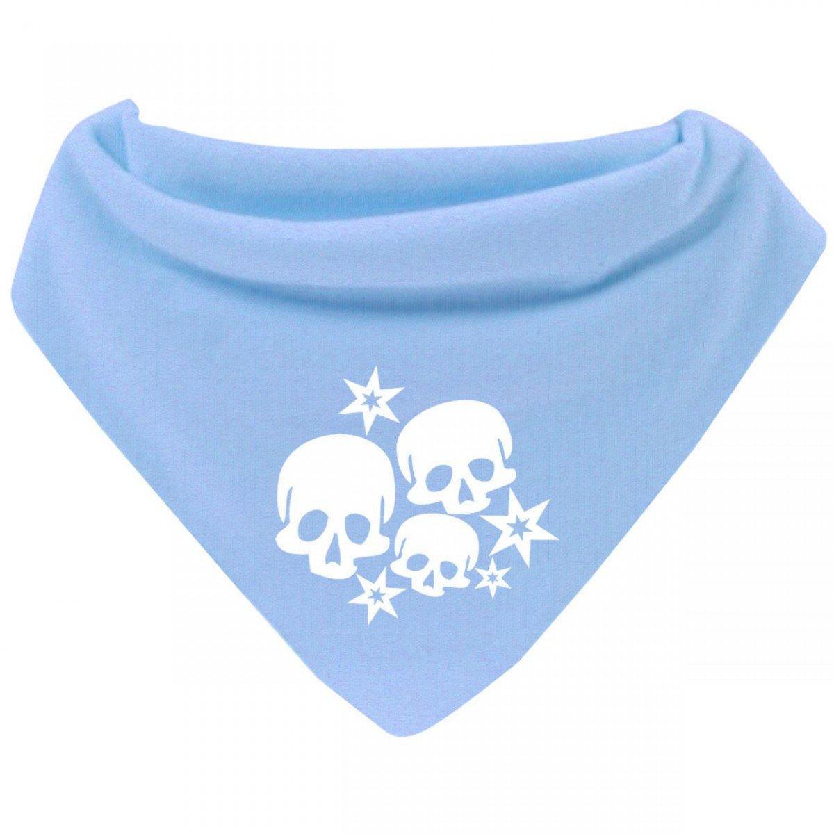 Mikalino Baby Halstuch Bandana Skulls and Stars mit Klettverschluss Farbe:navy
