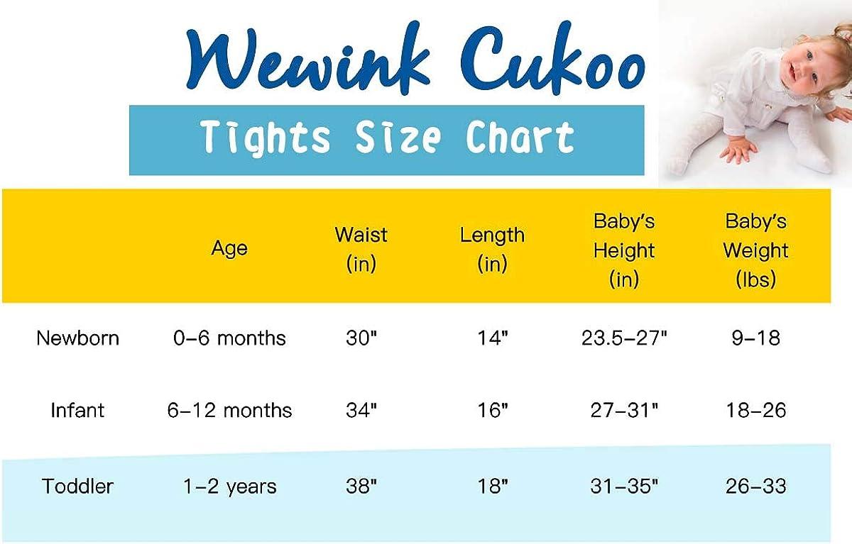 WEWINK CUKOO Baby-Strumpfhosen f/ür M/ädchen und Jungen Baumwolle Glatt Weich und Bequem Kinder-Strickstrumpfhosen