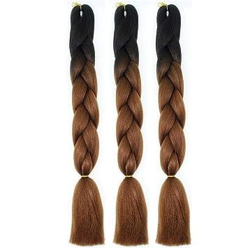 Amazon Com Xiaoliangyiyz Crochet Braids Hair Ombre Jumbo Synthetic